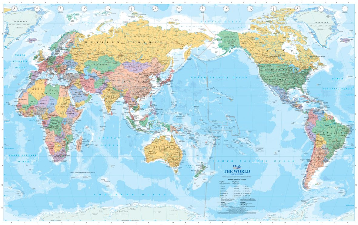 World Supermap Pacific Centred Flat Map For The Home Pinterest - Flat map of the world