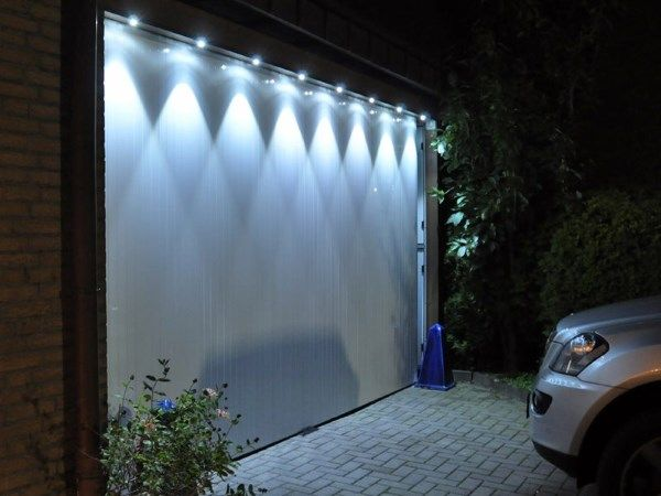 Beleuchtung Garagentor | Beleuchtung für Garage Carport Wintergarten ...