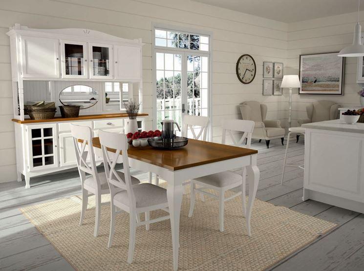 Soggiorno Shabby ~ Cucina e sala da pranzo in stile country house pinterest
