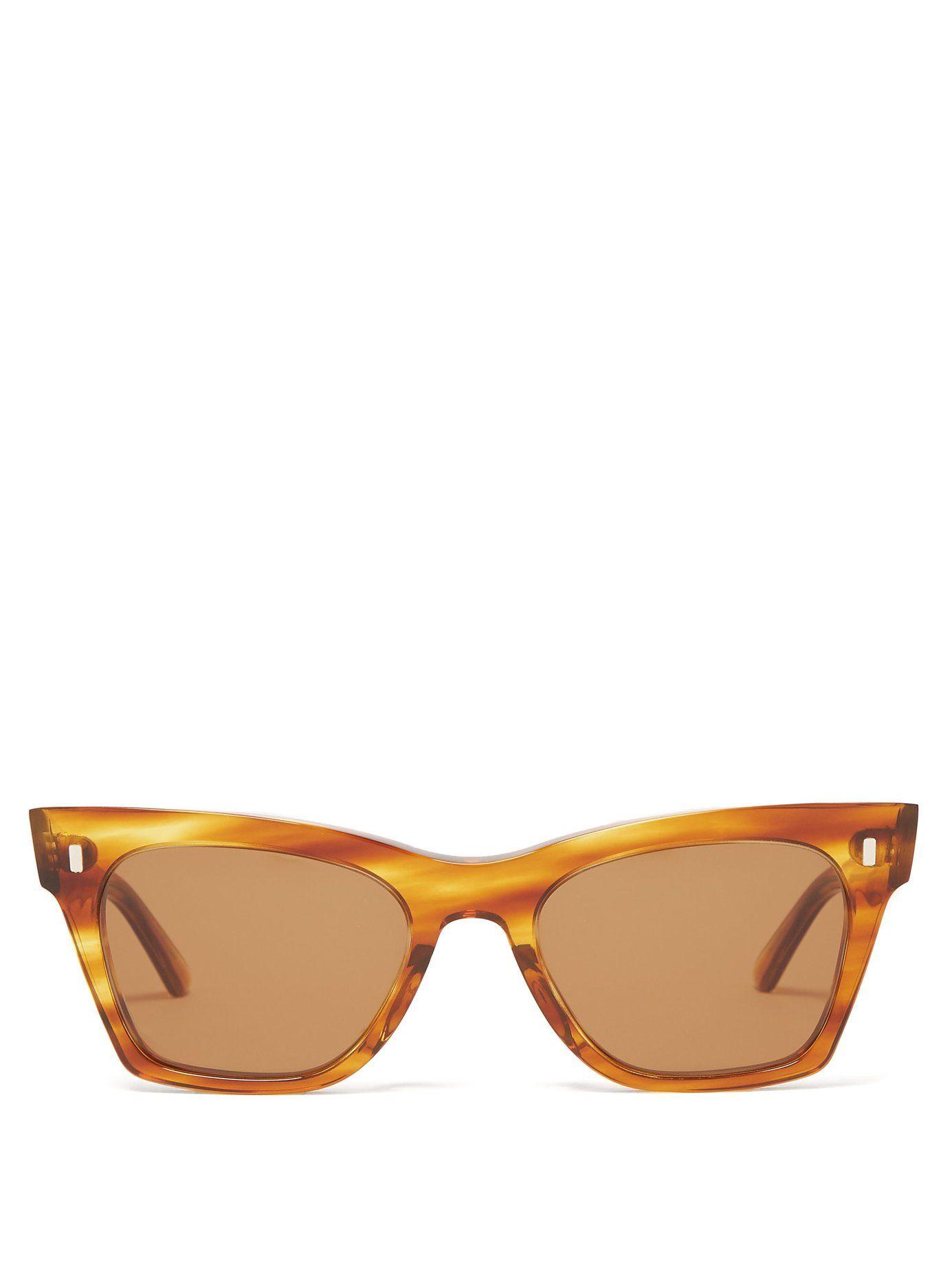 c841bd2f2c989 Rectangular cat-eye acetate sunglasses