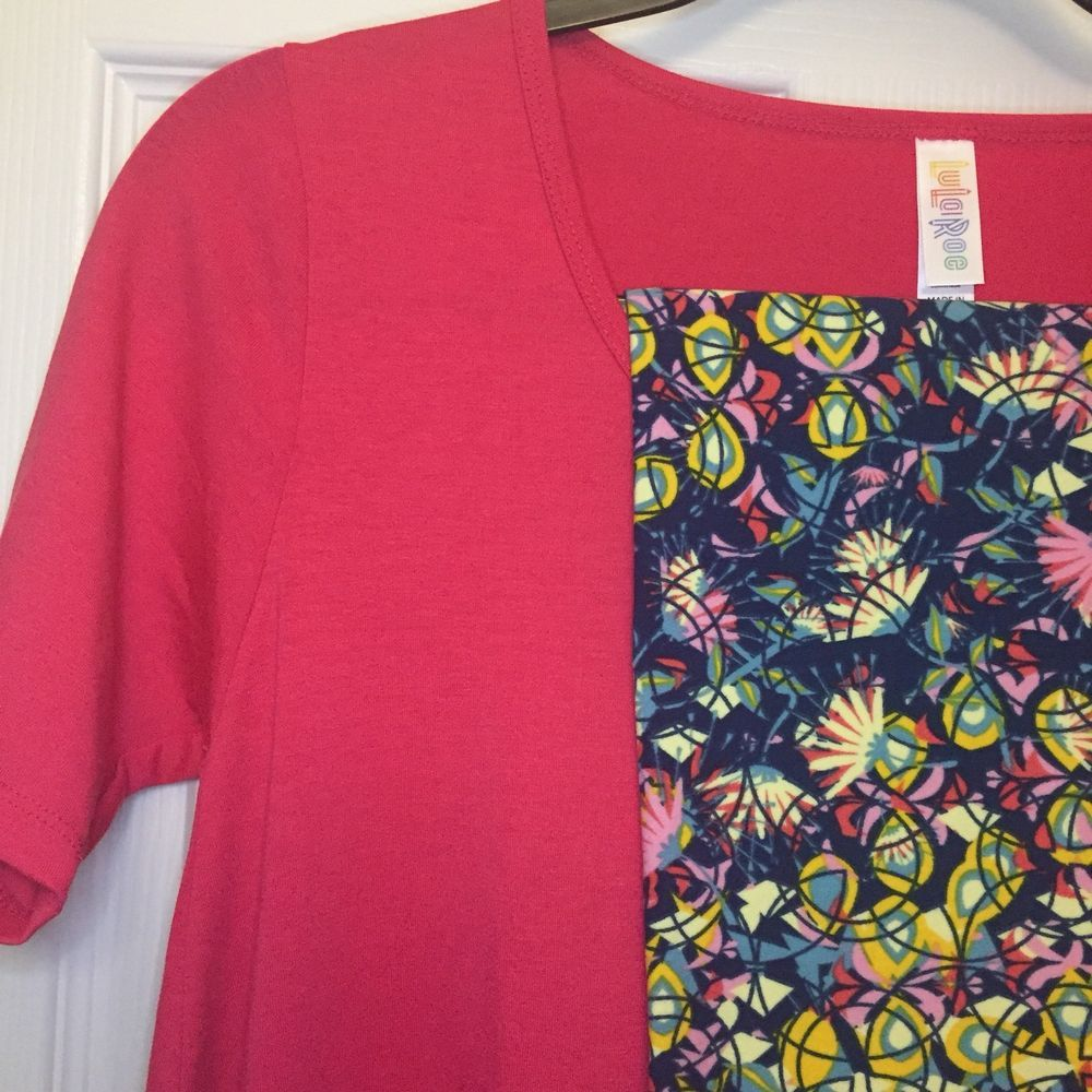 eb529157c34da0 #LuLaRoe Perfect T Size XXS #Solid Pink With OS Floral #Leggings NWT  Gorgeous