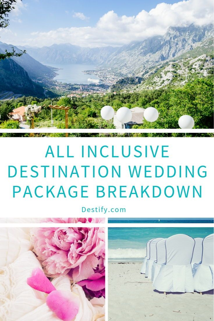 Purchasing a destination wedding package from an all