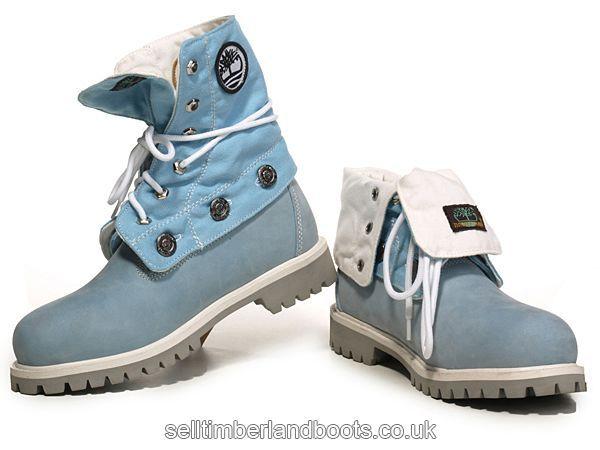 b444b9ac415a Women s Timberland Roll-Top Boots-Light Blue White £71.20 ...