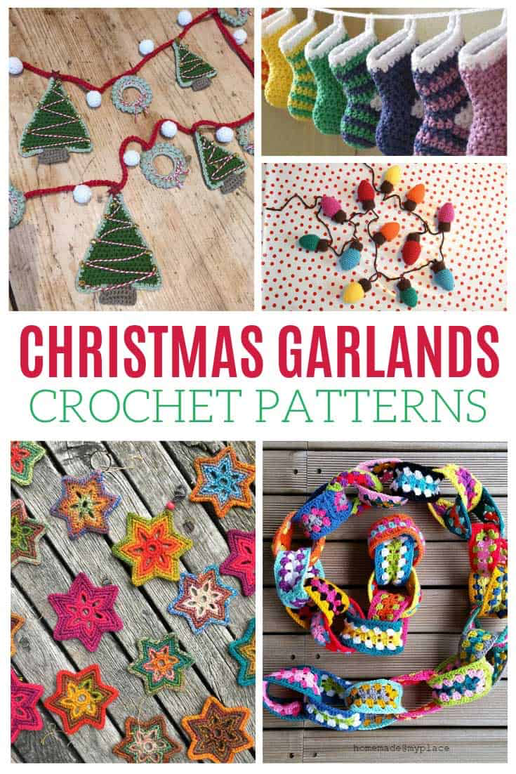 Christmas Garlands Free Crochet Patterns For The Holidays Christmas Crochet Patterns Free Crochet Xmas Crochet Christmas Garland