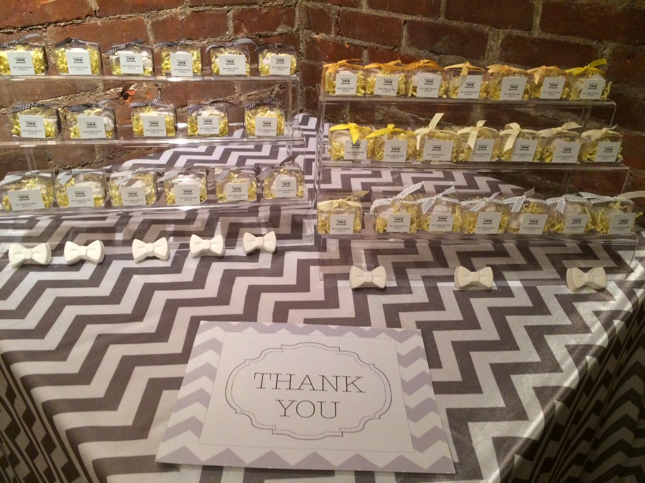 Chevron Baby Shower #favors #potpourri favors by www.apeventdesign.com
