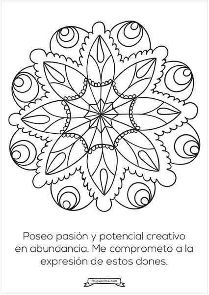 11 Mandalas Para Pintar Con Afirmaciones Poderosas Imprimibles Gratis Frases Mandalas Mandalas Para Colorear Mandalas