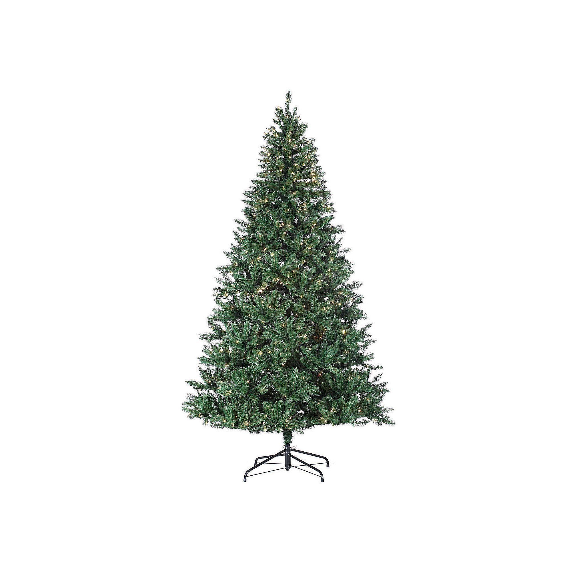 8ft Christmas Tree Pre Lit: Sterling 8-ft. Pre-Lit Hudson Pine Artificial Christmas