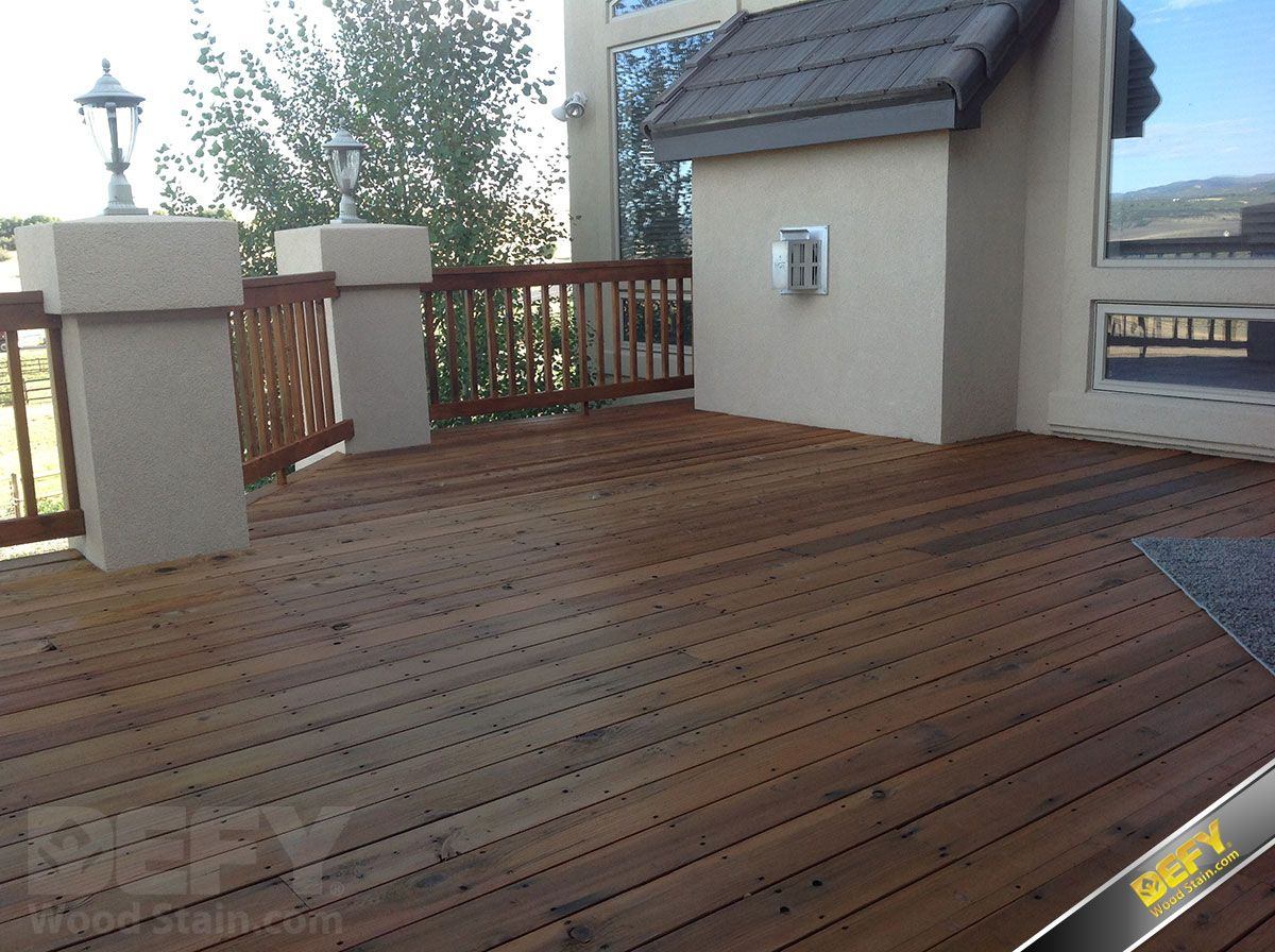 Redwood deck and railing after defy extreme wood stain in cedar redwood deck and railing after defy extreme wood stain in cedar tone is applied baanklon Image collections