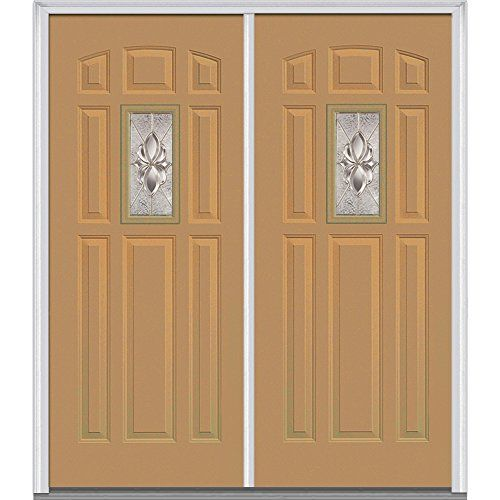 National Door Z016300l Heirloom Master In Swing Double Entry Door With Decorative Glass Prehung Left Hand 1 4 Lite Painted Paneling Glass Decor Prehung Doors