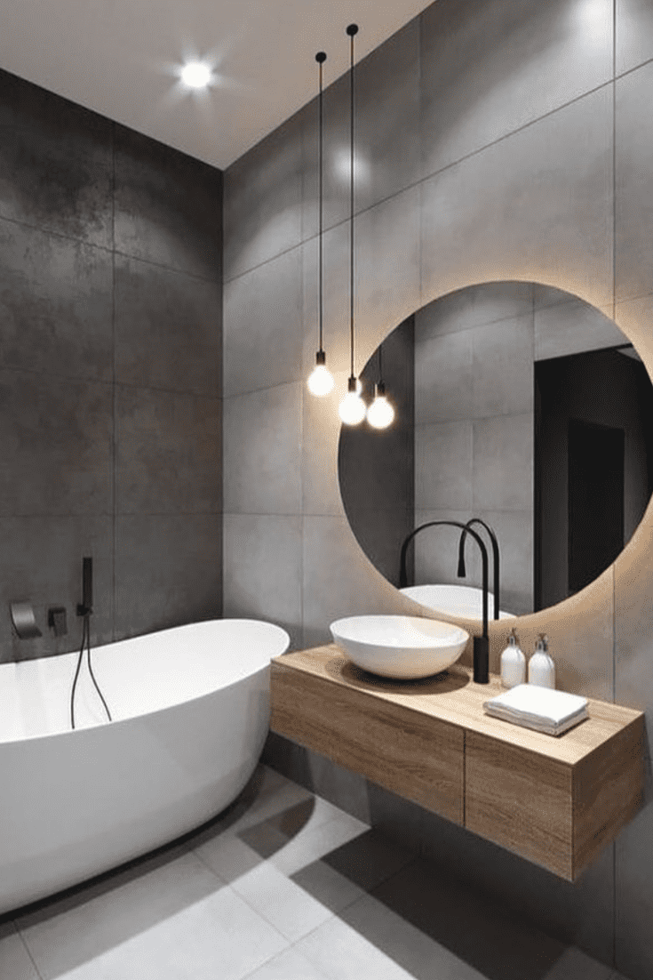 Why Modern Bathroom Is An Icon Of Clean Lines And Simplicity House Topics In 2020 Modern Bathroom Trends Bathroom Inspiration Modern Black Bathroom