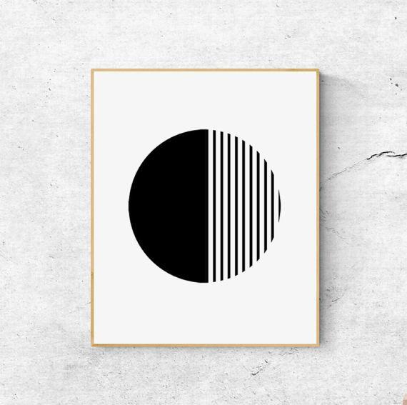 Black and white print scandinavian geometric wall art large also scandi set printable decor minimalist digital rh pinterest