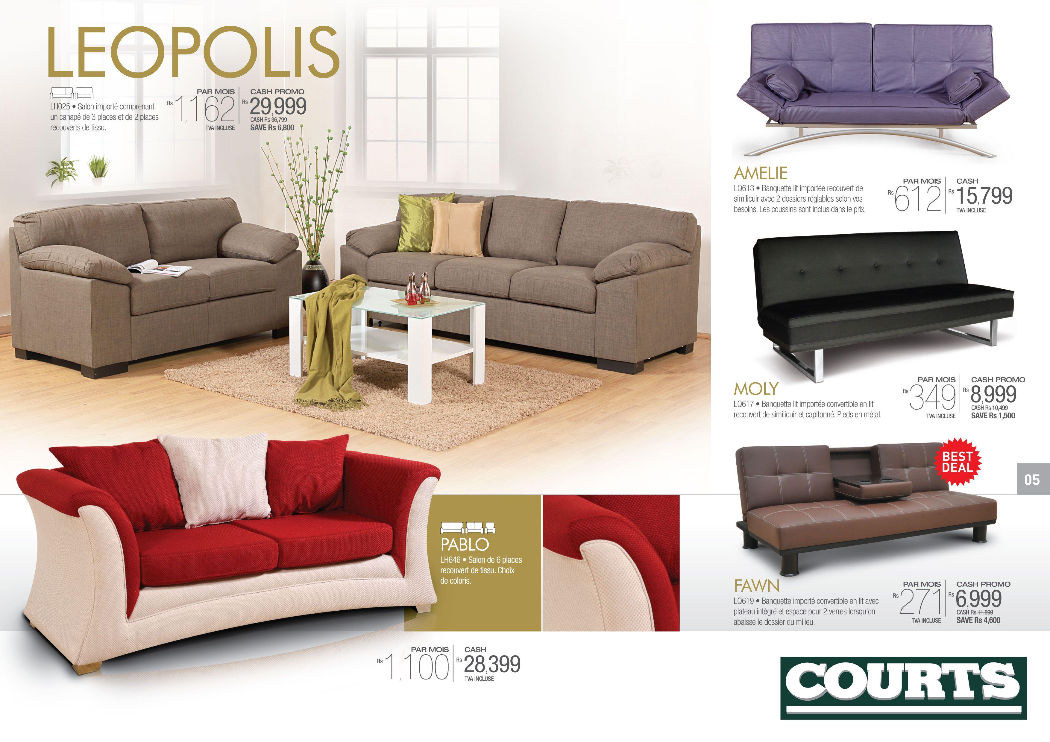 Courts Mauritius Sofa Set
