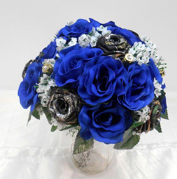 Mossy Oak Camo Royal Blue Flower Bullet Bouquet