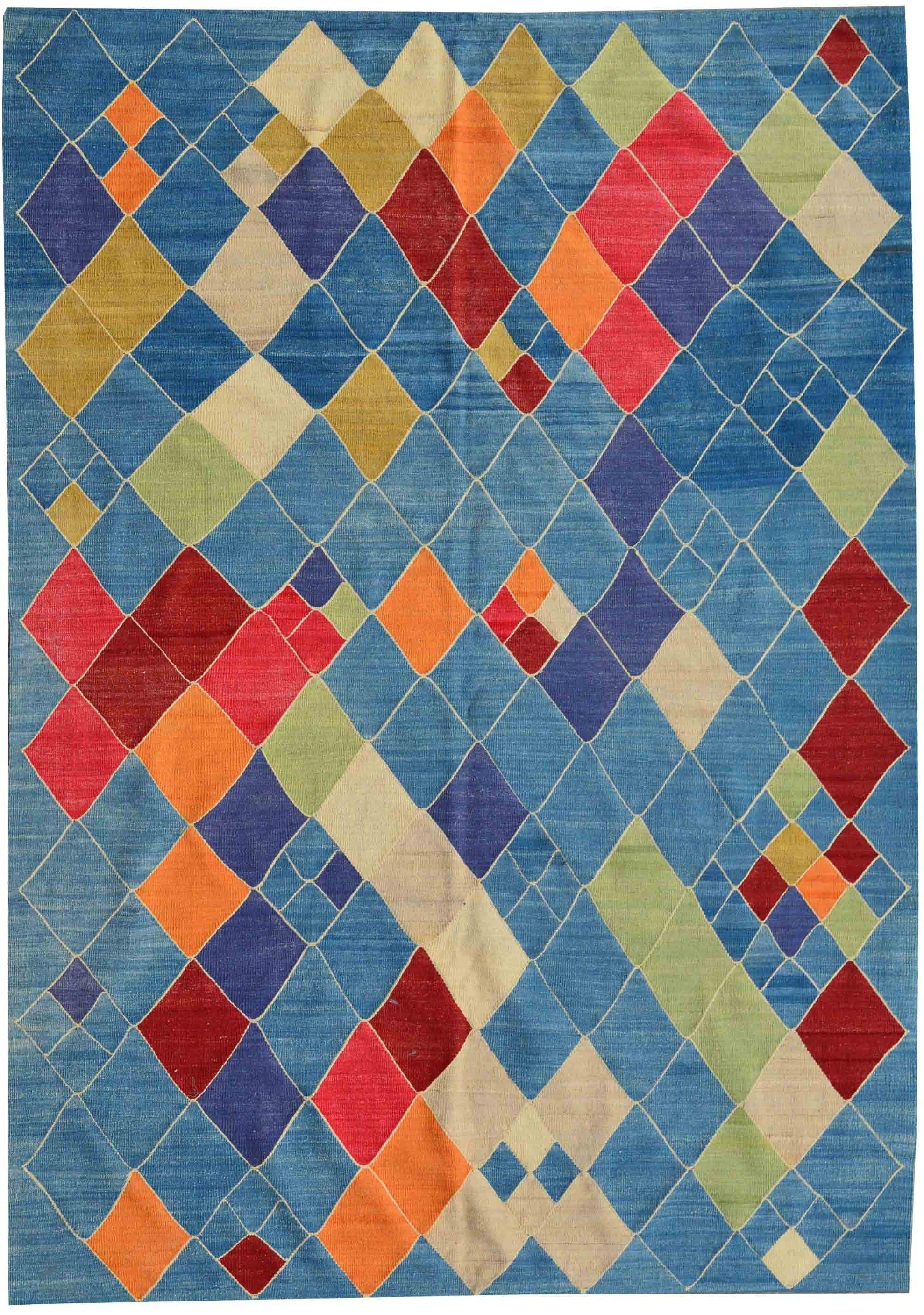 Michel Antoine Tapis & Kilims - Tapis Kilim coloré style arlequin ...