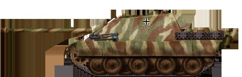 Jagdpanther 1st companie, S.PanzerAbteilung 654 Ruhr Pocket march 1945.