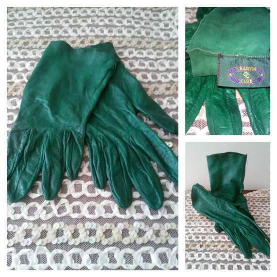 Vintage Charter Club Hunter Green Leather Made in Italy by TheMajesticPeacock, $10.00