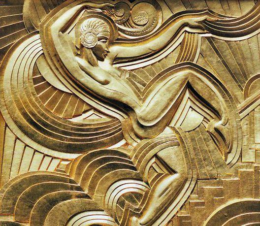 Art Déco - Paris - \'Folies Bergère\' - Bas Relief de la Façade ...