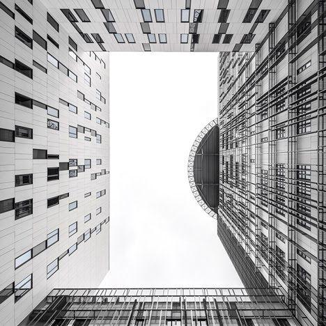~Lisbon police headquarters new monochrome geometric facades by Saraiva   Associados...