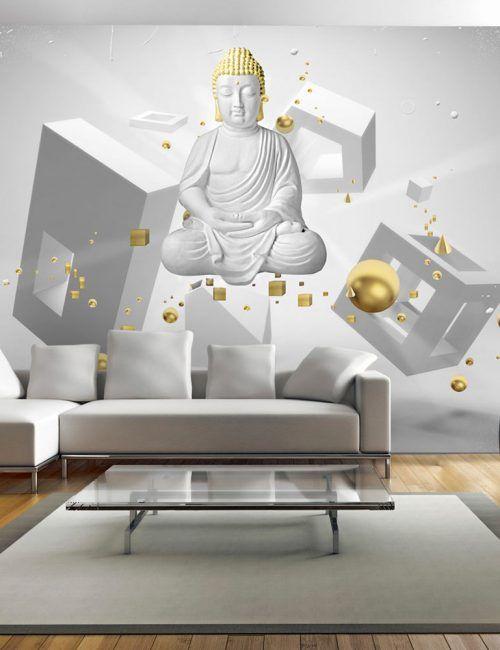 Carta da parati orientale buddha in 3d carta da parati for Parati in 3d