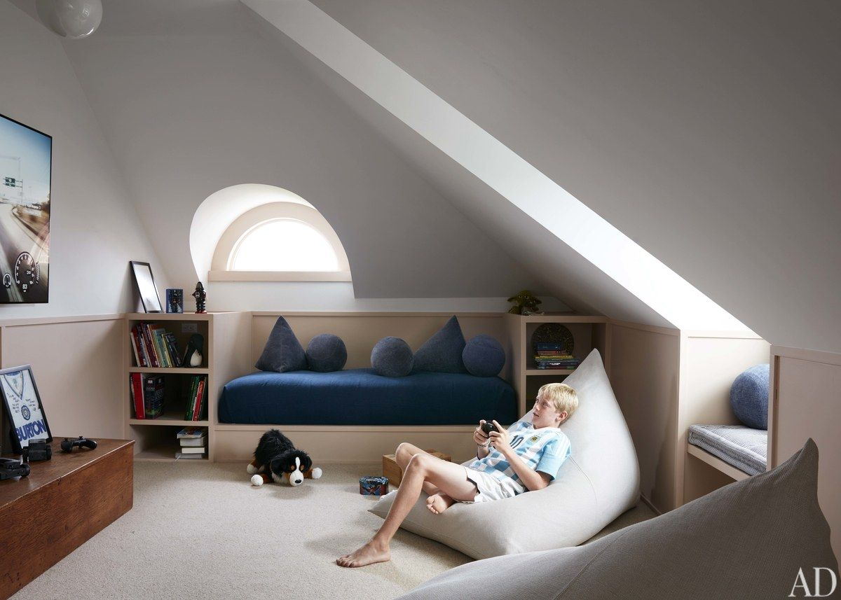 Step Inside This Classic Watch Hill Home Attic Bedroom Small