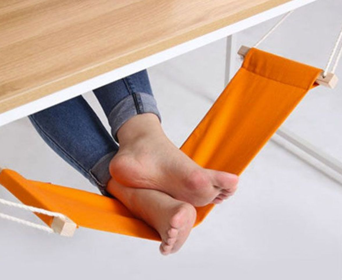 Under desk foot hammock for the home pinterest awesome of and