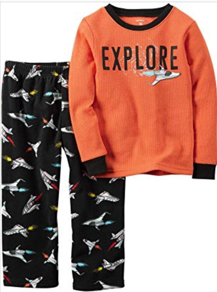 243ae7bf6612 NWT Carters Toddler Boy Clothes 2T 2 Piece Shirt Pants Space Pajama ...