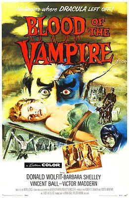 Blood of the Vampire - 1958 - Movie Poster