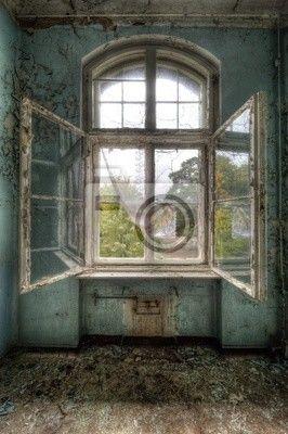 Fototapete fensterrahmen  Fototapete open window - die Architektur - alt • PIXERS.de ...