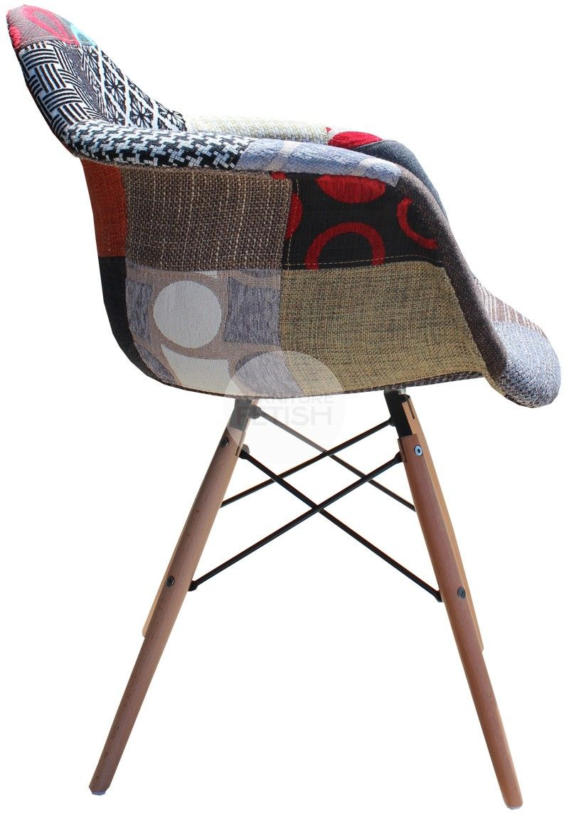 daw eames chair replica vintage patchwork chair timber 43g
