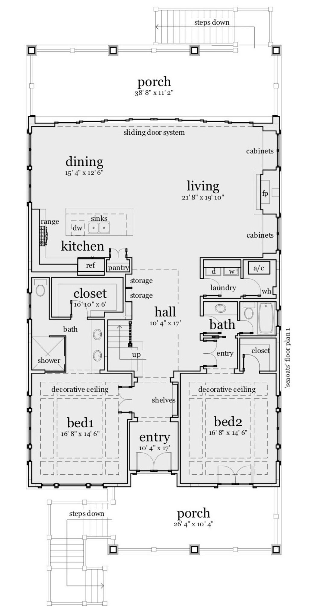 House Plan 028 Narrow Lot Plan 2 621 Square Feet 3
