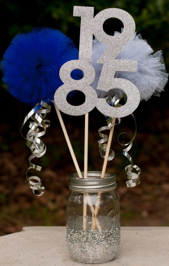 Easy Centerpieces For Family Reunion : Class reunion high school centerpiece table