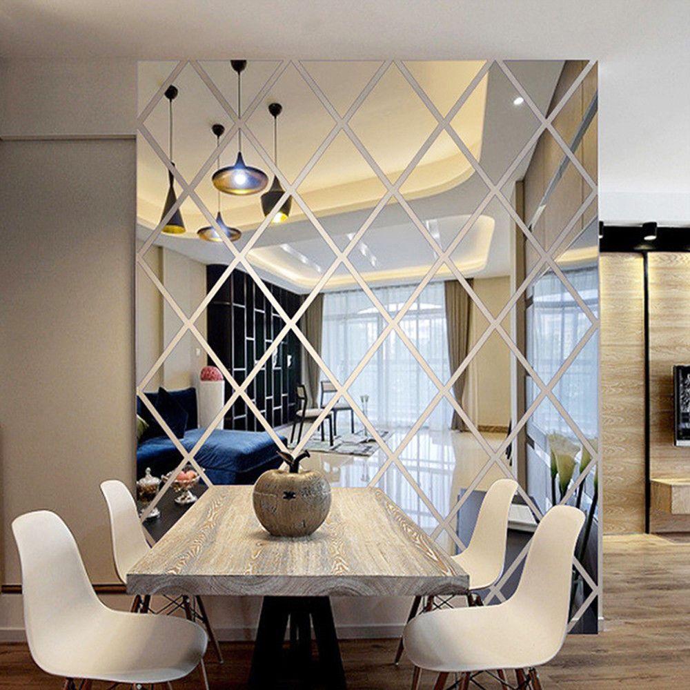 Diy Wall Stickers Mirror Removable Sticker Home Livingroom Window Decoration