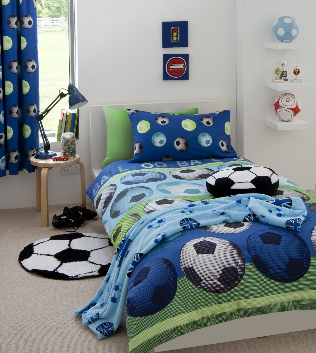 Twin Baby Boy Bedroom Ideas Trendy Bedroom Lighting Bedroom Color Ideas Pinterest Murphy Bed Bedroom Ideas: Boys Football Bedding Single & Double Duvet, Co-ordinating