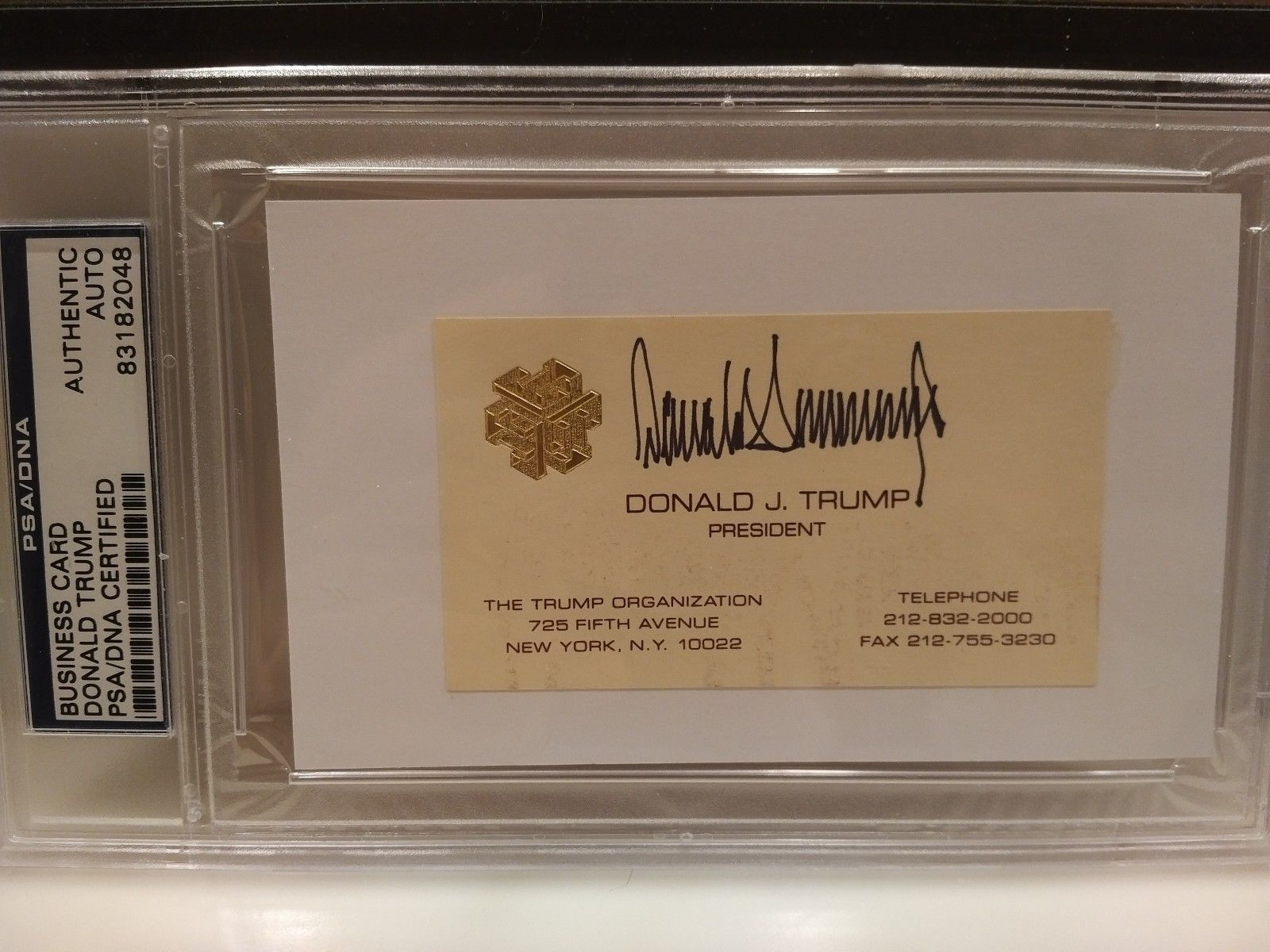 Donald Trump Authentic Business Card Autographed Signed Only Real