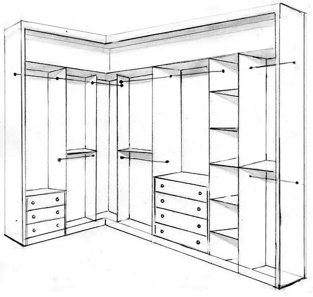 Pin de alla en pinterest vestidor armario for Dibujar un mueble en 3d