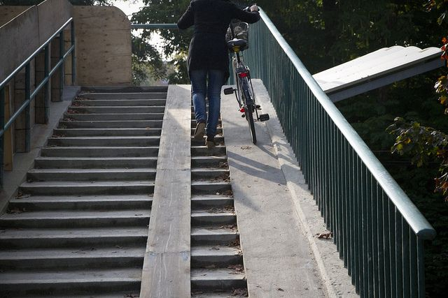 Bicycle Culture By Design Landscape Stairs Bicycle Ramp Stairs