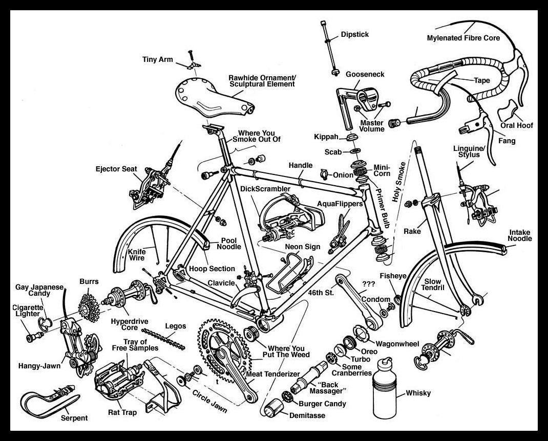 Road Bike Diagram Google Search Bmx Bike Parts Bicycle Parts