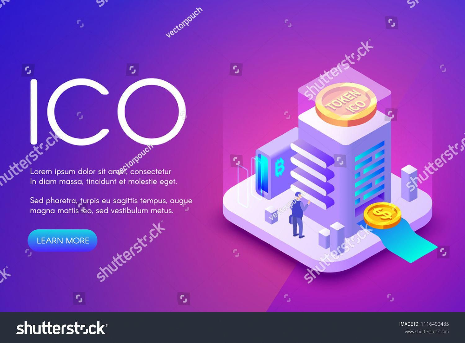 Ico Cryptocurrency Vector Illustration Of Bitcoin And Tokens For Crowdfunding Investment And Business Sta Start Up Business Business Investment Crypto Currency