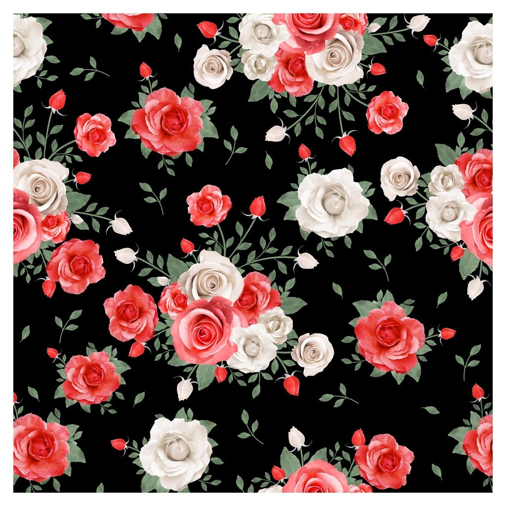 Wedding Red Roses Adhesive Vinyl Sheet