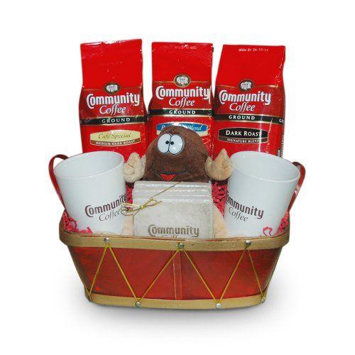 Community Coffee Basket Coffeenie Coffee Lover Gift Set - http://mygourmetgifts.com/community-coffee-basket-coffeenie-coffee-lover-gift-set/