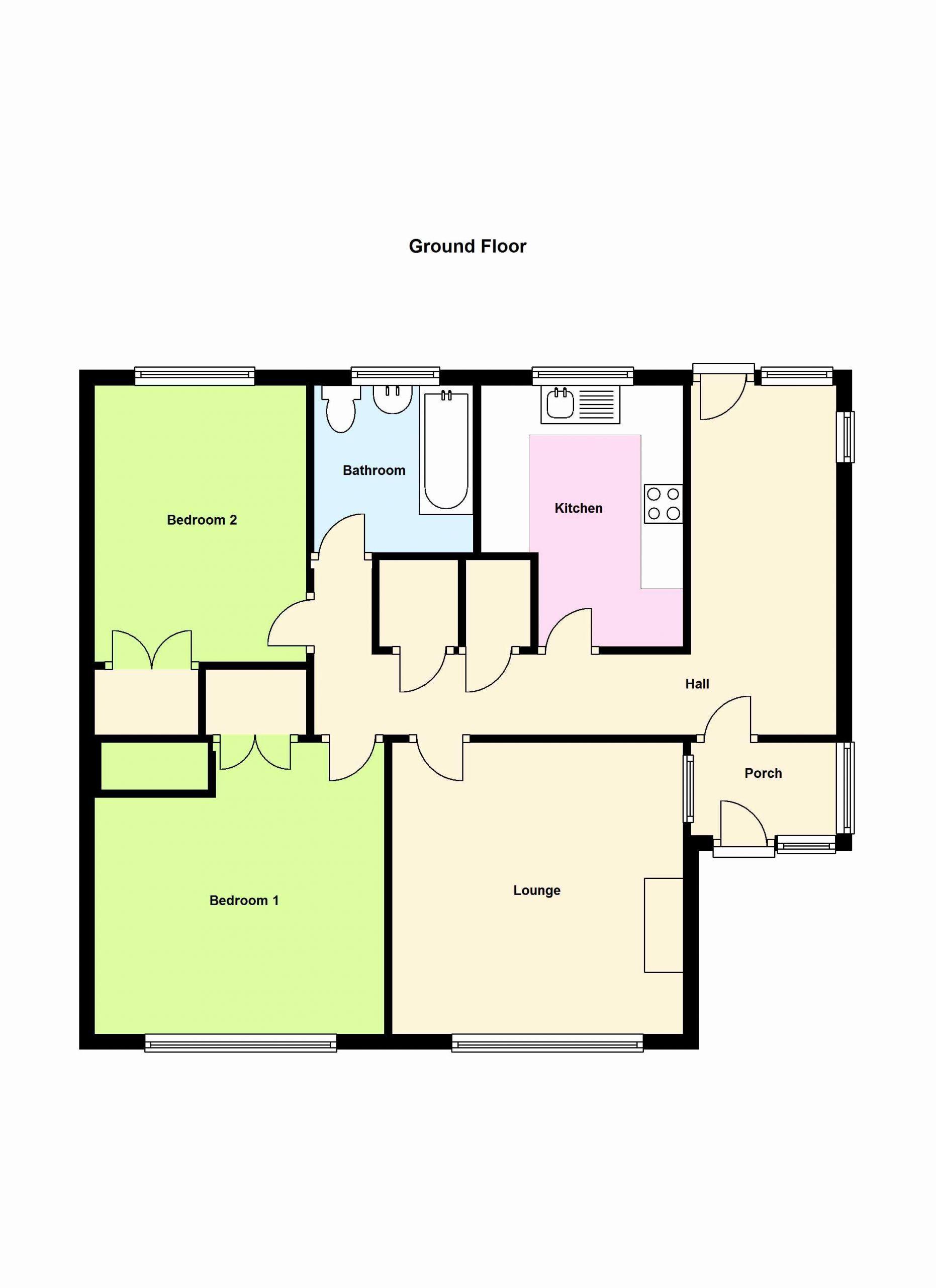 guest house floor plans 2 bedroom