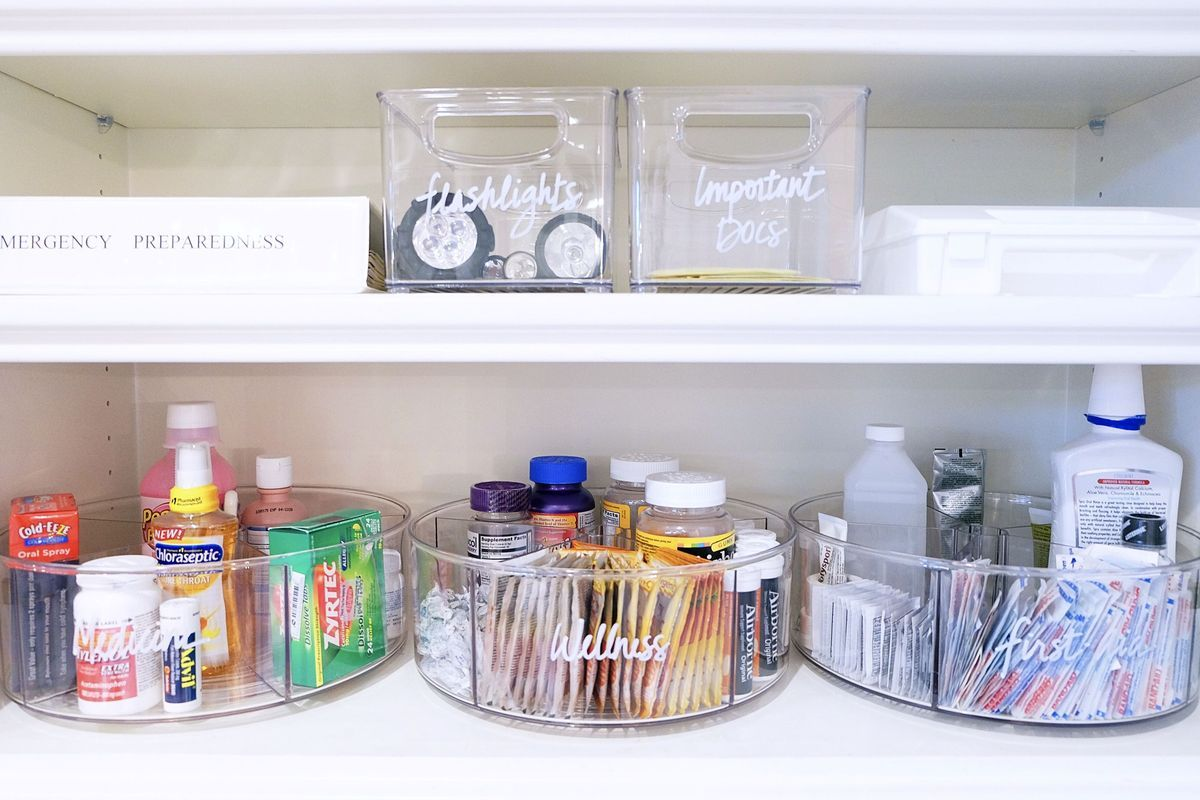 Pro Organizers Share Their Favorite Before After Makeovers Tips Medicine Cabinet Organization The Home Edit Container Store