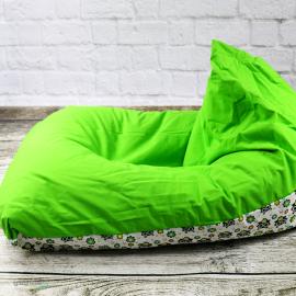 Pufa Sako w zielone sowy