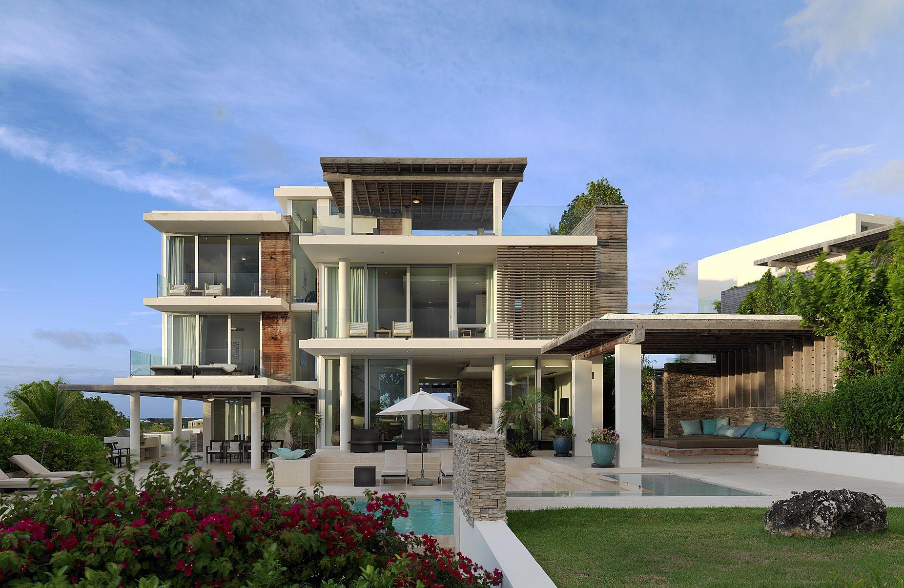 2 Modern Caribbean Seaside House Windows 1852x1205