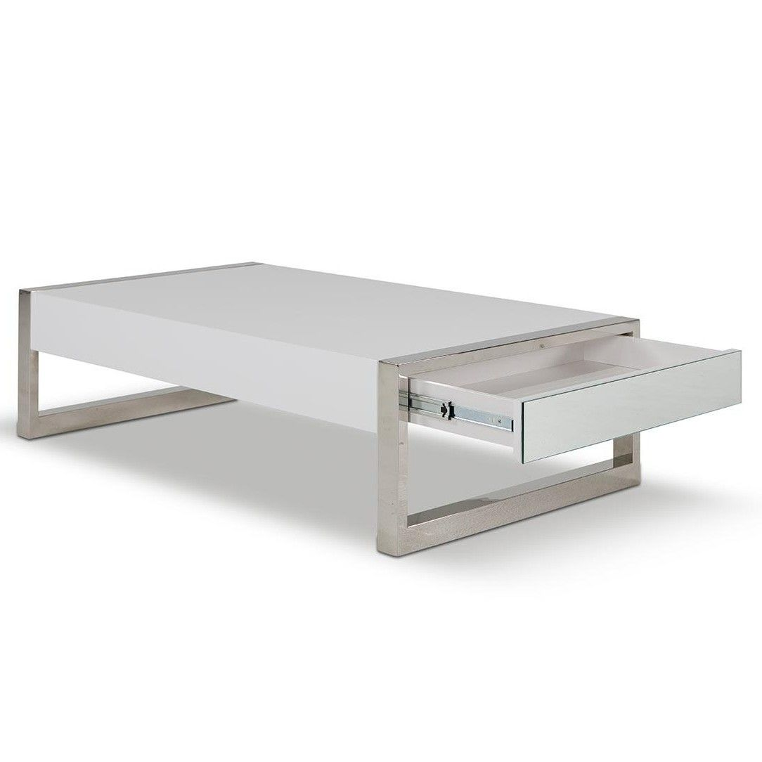 Modern Rectangular White Coffee Table With Drawers Future White Coffee Table Modern Coffee Table Living Room Coffee Table [ 1084 x 1084 Pixel ]