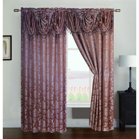 Wilton Jacquard 54 X 84 In Double Rod Pocket Single Curtain Panel