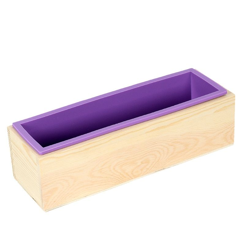 Find More Soap Molds Information About Rectangular Silicone Mold Flexible Loaf Mould With Wood Box