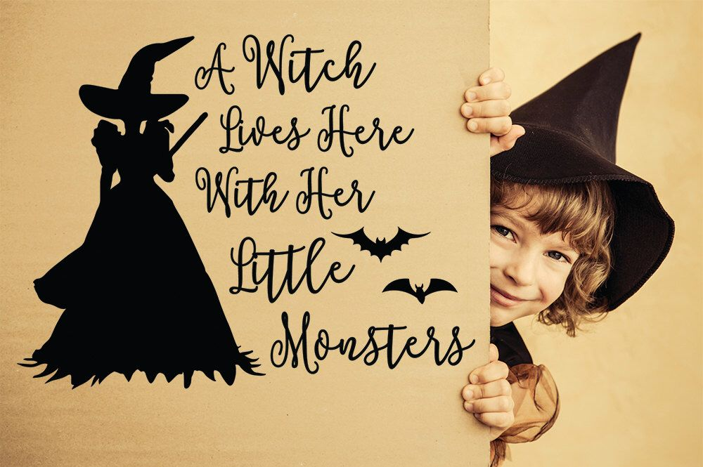 Halloween Decal, Halloween, Halloween Wall Decal, Witch Decal, Witch Wall Decal, Halloween Party, Halloween Decor, Little Monster Decal, Bat by Stickythingz on Etsy https://www.etsy.com/listing/475897739/halloween-decal-halloween-halloween-wall