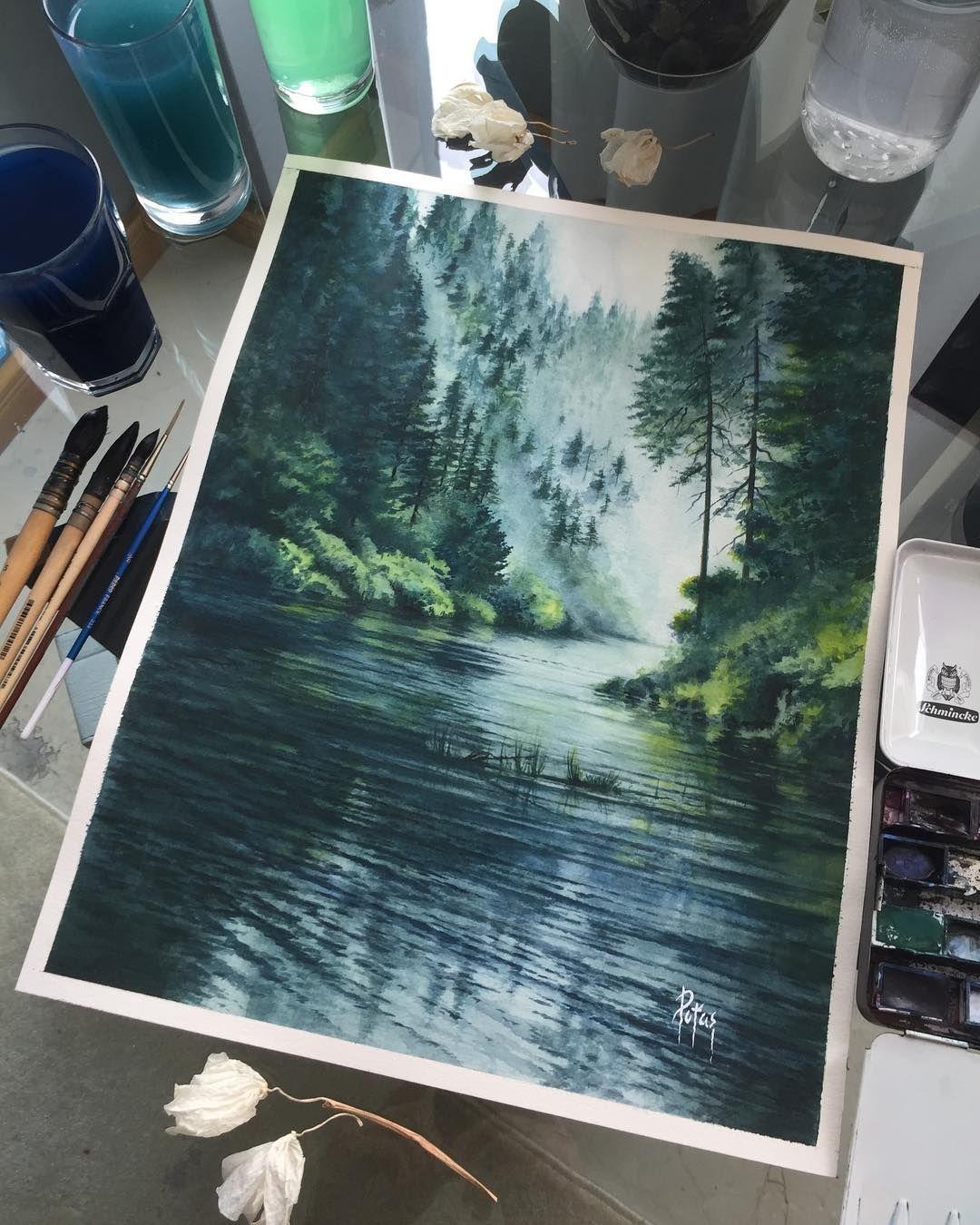 Watercolor Picture Akvarel Xtina Gavrilova Art V Instagram
