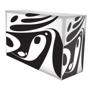 black and white modern art bar